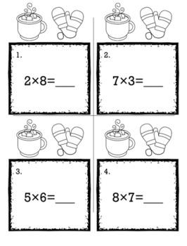 Winter January 3rd Grade {Scoot Game/Task Cards} Math Bundle
