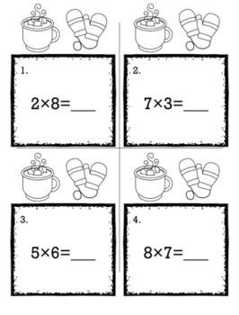 Winter January 3rd Grade {Scoot Game/Task Cards} Math Bundle
