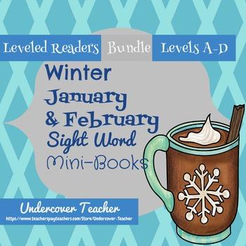 Winter (January & February) Mini-Books Emergent Reader Bundle