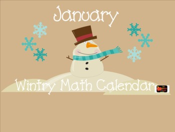 1st Grade Winter January Snowman SMARTBoard Common Core Calendar Math