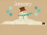 1st Grade Winter January Snowman SMARTBoard Common Core Ca
