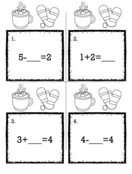 Winter January Kindergarten {Scoot Game/Task Cards} Math Bundle