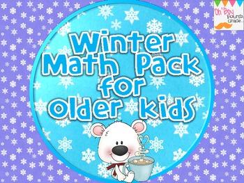 Winter / January Math Pack for Older Kids