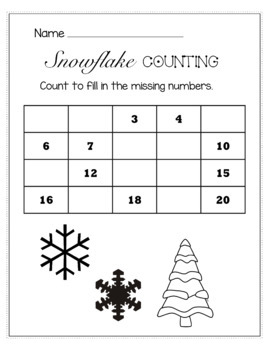 Winter January Math  for Kindergarten - NO PREP Packet