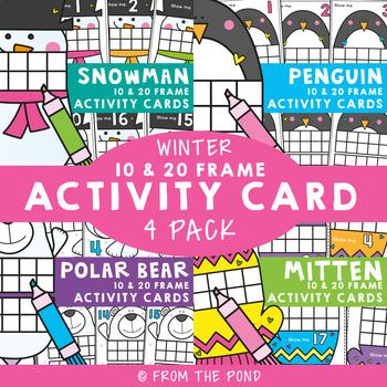 Ten Frame Math Activities for Winter