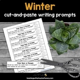 Winter Writing Prompts - Cut And Paste Journal Prompts