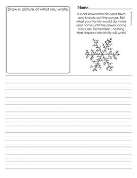 Winter Journal Packet for 1st, 2nd or 3rd