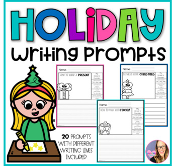 Winter Journal Writing Prompts (Kindergarten, First, and S