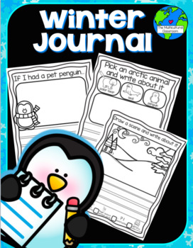 Winter Journal one month of journal prompts for only $1.00