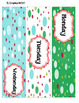 Red, Blue, & Green Dots  -- 3-drawer Organizer Box Labels
