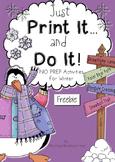 Winter Just Print It and Do It ~ Freebie