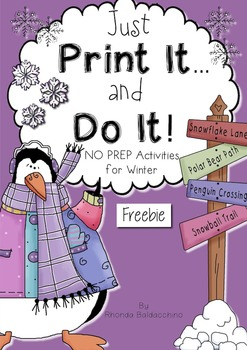 Winter Just Print It and Do It ~ Freebie