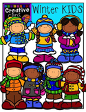 Winter Clipart KIDS {Creative Clips Clipart}