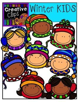 Winter Clipart KIDS {Creative Clips Clipart}