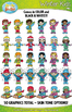 Winter Kid Characters Clipart {Zip-A-Dee-Doo-Dah Designs}