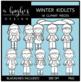 Winter Kidlets Clipart {A Hughes Design}