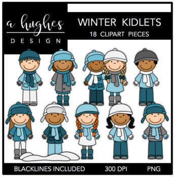 Winter Kidlets {Graphics for Commercial Use}