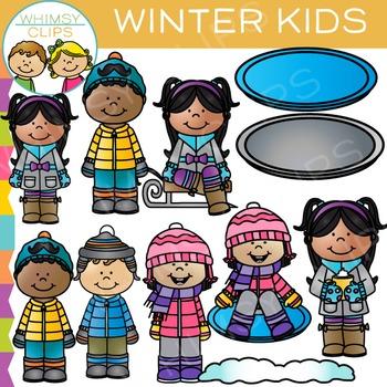 Kids Winter Clip Art