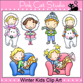 Winter Kids Clip Art - Personal or Commercial Use