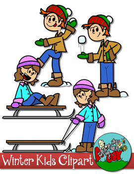 Winter Kids Clip art by A Sketchy Guy | Teachers Pay Teachers