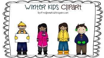 Winter Kids Clipart