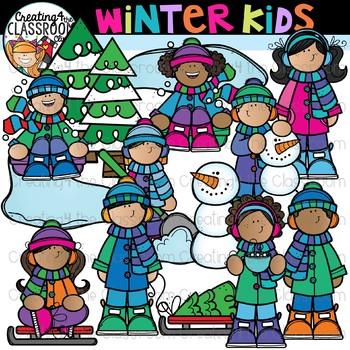 Winter Kids Clipart {Winter Clipart}