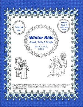 Winter Kids Count Tally and Graph
