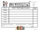 Winter Kids Reading Logs: Daily & Monthly Recording Sheets ELA Seasonal Theme