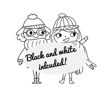 Winter Kids + Snow Clipart