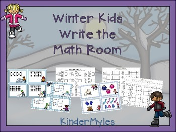Winter Kids Write the Math Room