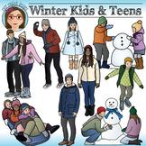 Winter Kids and Teens Clip Art