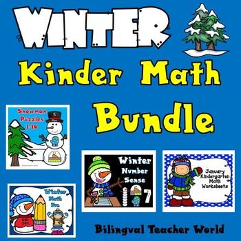 Winter:  Kinder Math Bundle