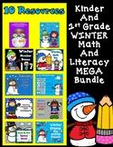 Winter Kinder and First Grade Mega Bundle:  Math and Literacy