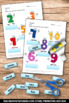 Print and Go Winter Math and Literacy Packet, Kindergarten Math Review Pages