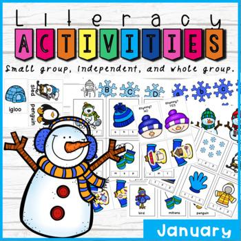 January Kindergarten Literacy Activities