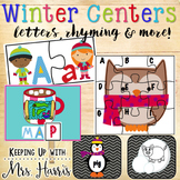 Winter Centers - Letters, Rhyming & more!