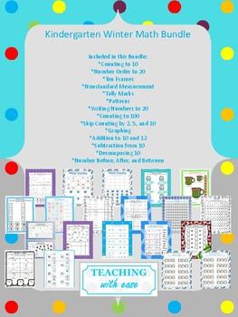 Winter Kindergarten Math Bundle