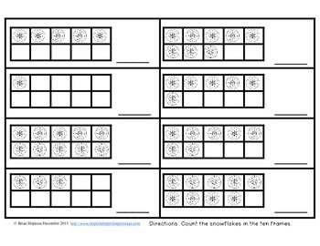 Winter Kindergarten Math No Prep Printables