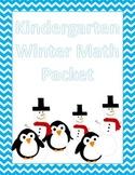 Winter Kindergarten Math Packet
