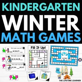 Winter Kindergarten Math Puzzles