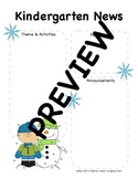 Winter Kindergarten Newsletter Template
