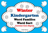 Winter Kindergarten No Prep Word Families Word Sort Short Vowels