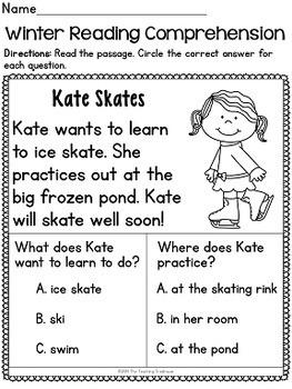 Winter Kindergarten Pack ~ Print & Go, No Prep ~ CCSS Aligned