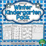 Winter Kindergarten Pack, No Prep, CCSS Aligned