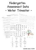 Winter Kindergarten Progress Report
