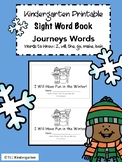 Winter Kindergarten Sight Word Book