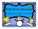 Winter Kindergarten Sight Word Game