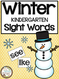 Winter Kindergarten Sight Words
