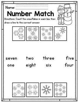Winter Kindergarten Worksheets (January)