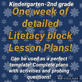 Winter Kindergarten literacy block lesson plans